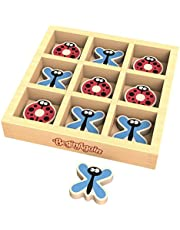 BeginAgain Tic Bug Toe - Travel Sized Tic Tac Toe Game - Cooperative Play - Kids 3 and Up