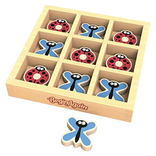 BeginAgain - Tic Bug Toe, Travel Sized Tic Tac Toe Game, Helps Promote Cooperative Play and Fine Motor Skills (For Kids 3 and Up) ()