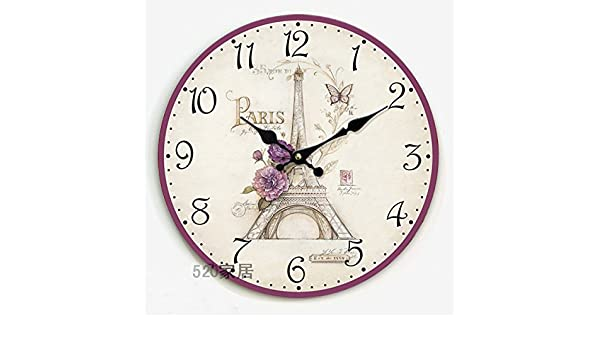 Amazon.com: Royal-Continental Retro Wooden Countryside Mute Wall clock: Home & Kitchen