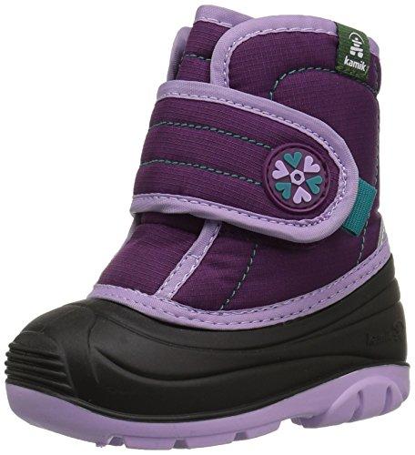 (Kamik baby-girls' SNUGGLEBUG Snow Boot, Grape, 8 Medium US Toddler)