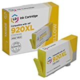 LD Remanufactured Replacement for Hewlett Packard CD974AN (920XL/920) High-Yield Yellow Ink Cartridge for OfficeJet 6000, 6500, 6500a, 6500a Plus, 7000 & 7500a