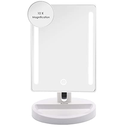 Straightforward Led Touch Screen Makeup Mirror Professional Vanity Mirror With 16 Led Lights Health Beauty Adjustable Countertop Rotating To Be Distributed All Over The World Bathroom Hardware Bathroom Fixtures