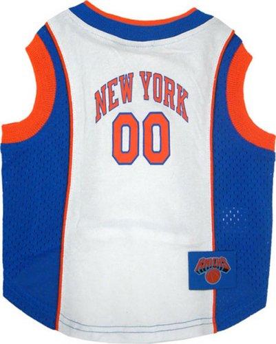 NBA Pet Mesh Tank Top, X-Small, New York Knicks