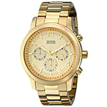 GUESS Men's U15061G2 Analog Display Quartz Gold Watch