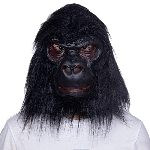 (JYJSYM Halloween, Gorilla mask Animal Headgear Halloween Latex mask)