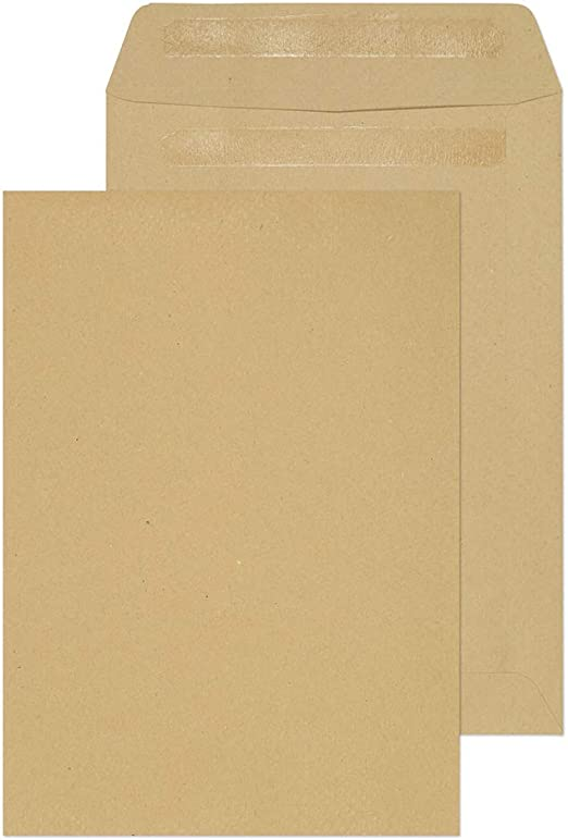 White Pack of 500 12084 Blake Purely Everyday 90 GSM C5 229 x 162 mm Pocket Self Seal Window Envelopes