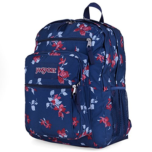 JanSport Big Student Backpack- Discontinued Colors (Navy Sweet Blossom)