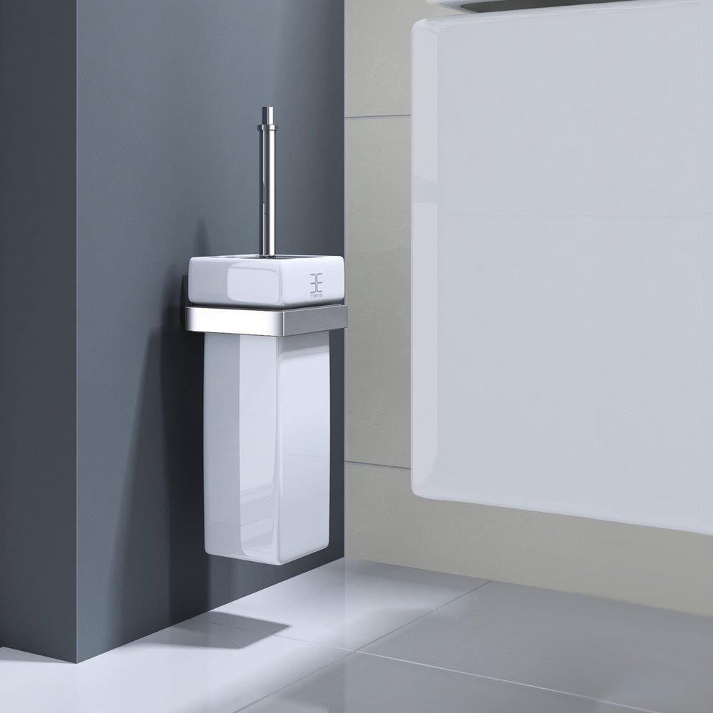 Mai & Mai Toilettenbürste MMA807B mit mit mit eckigen Keramikbehälter WC-Bürstenhalter Toilettenbürstenhalter Wandmontage B01H71083I WC-Bürsten & Halter e3fc34