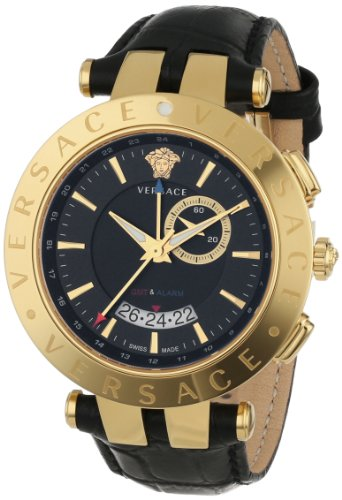 - 51FDLOXtlzL - Versace Men's 29G70D009 S009 V-RACE Yellow Gold Ion-Plated Stainless Steel Watch
