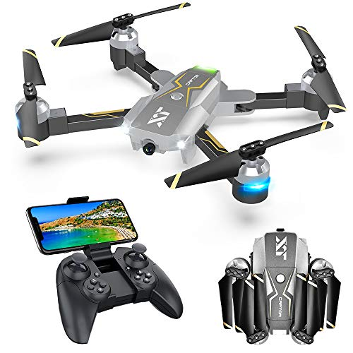 WiFi FPV Drone with Camera Live Video 720P HD, RC Drones for Beginners RC Quadcopter with Optical Flow Positioning, Gravity Control, Voice Control, Trajectory Flight, Compatible with 3D VR Headset