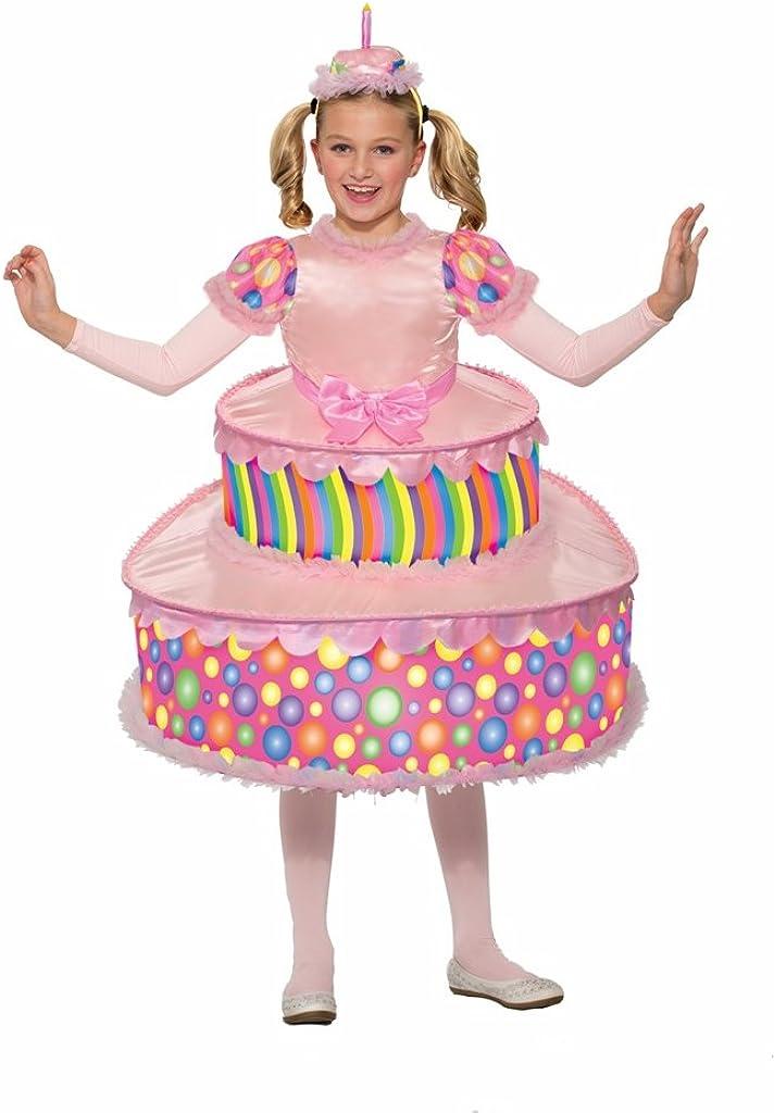 Fantastic Amazon Com Forum Little Girls Cute Birthday Party Cake Costume Personalised Birthday Cards Akebfashionlily Jamesorg