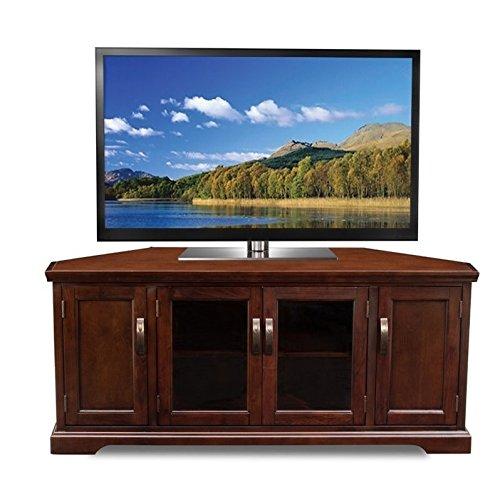 Leick 81386 Chocolate Cherry Corner TV Stand, 60