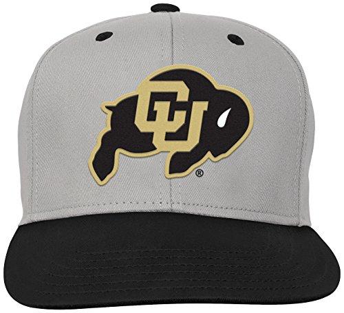 NCAA by Outerstuff NCAA Colorado Buffaloes Kids & Youth Boys Grey Two Tone Flatbrim Snapback Hat, Grey, Youth One Size (Buffaloes Baseball Colorado)