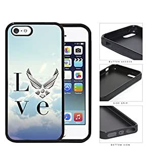 Love Airforce Blue Clouds Background Rubber Silicone TPU Cell Phone Case Apple iPhone 5 5s