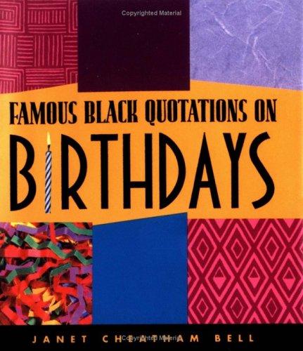 Famous Black Quotations on Birthdays pdf