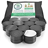 The Garden Gecko Invisible Pot feet for outdoor plant and flower pots, solid rubber pot risers with enhanced non-slip surface grip | 24 PACK + 24 STRONG SELF-ADHESIVE PADS.