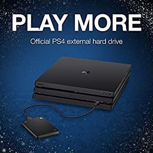 Seagate (STGD2000100) Game Drive for PS4 Systems 2TB External Hard Drive Portable HDD – USB 3.0, Officially Licensed…