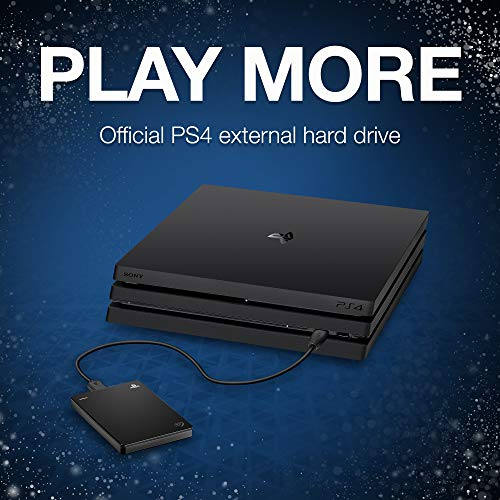 Seagate (STGD2000100) Game Drive for PS4 Systems 2TB External Hard Drive Portable HDD – USB 3.0, Officially Licensed Product
