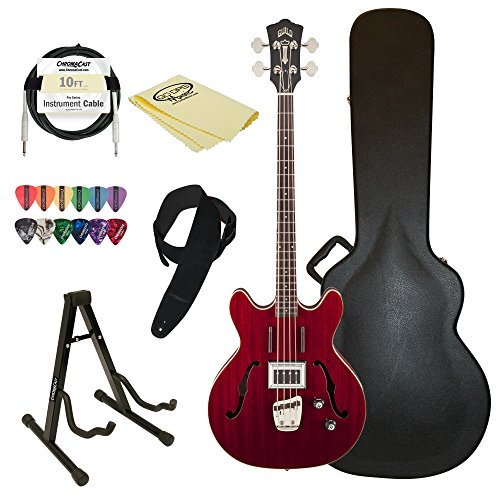 Semi-Hollow Electric Bass Guitar, Cherry Red - Guild Starfire Bass CHR-KIT-2