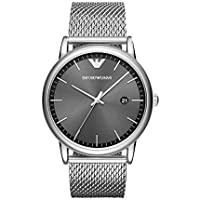 Emporio Armani Men's 'Dress Quartz Stainless Steel Casual Watch, Color:Silver-Toned (Model: AR11069