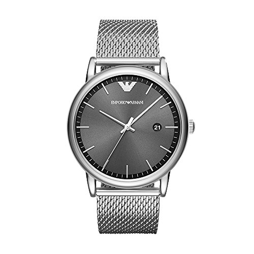 Emporio Armani Men's 'Dress Quartz Stainless Steel Casual Watch, Color:Silver-Toned (Model: AR11069)