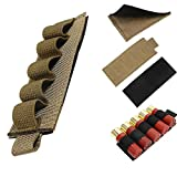 Ammo Stock Carrier Holder Pouch Sleeve 5 Round 12 Ga Military Tactical Shotgun Shell Bag Tan Airsoft (2 Pc)