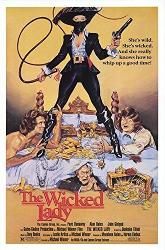 The Wicked Lady Poster Faye Dunaway John Gielgud Denholm Elliott