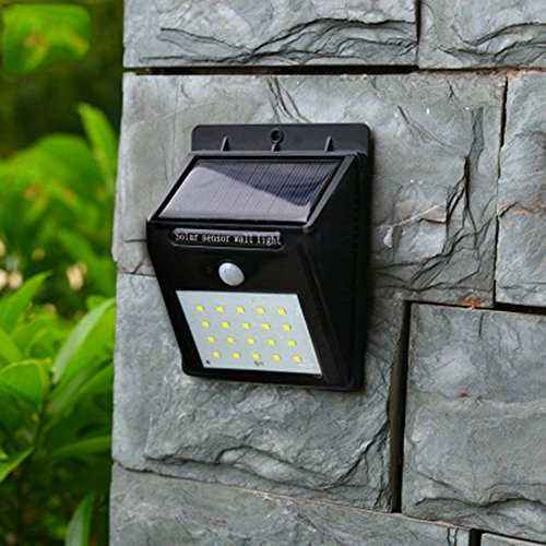 Solar Outdoor Lights,20 LED Motion Sensor Solar Security Lights with Waterproof Wireless , for Patio, Deck, Yard, Garden with Motion Activated Auto On/Off