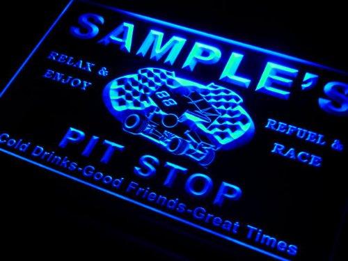 pu1107-b Woods Pit Stop Car Racing Bar Beer Neon Light Sign