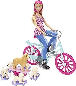 Amazon.es: Barbie - Bici Perritos (Mattel CLD94): Juguetes y juegos