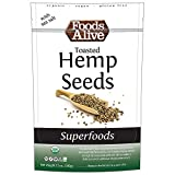 Foods Alive Organic Toasted Hemp Seeds with Sea Salt, 12-Ounce Bags (Pack of 3)