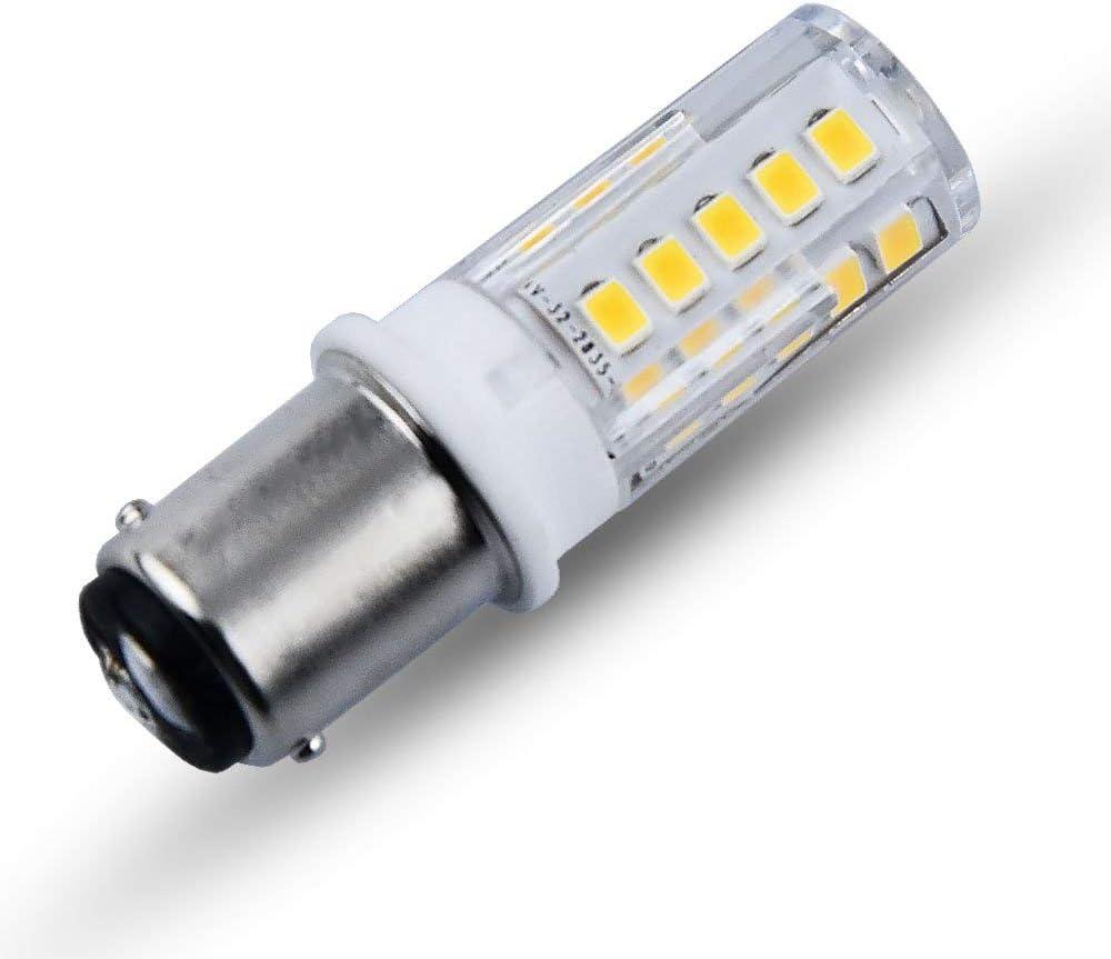 10W-20W Alogeno per Indicatore Luminoso Bonlux Fanale Posteriore per Auto 1156 Ba15s 12V DC Lampadina a LED 3,5W SBC Bianco Caldo, 2pz Freno Anteriore Segnale di Direzione Esterno Luce