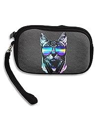 Music Lover Cat Wallet Purse Zip Coin Purse