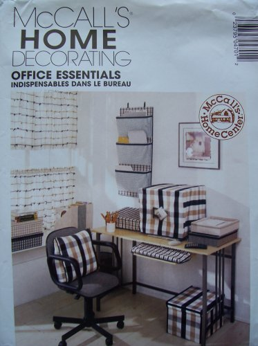 Mccall's Home Decorating Pattern P470 - Office Essentials