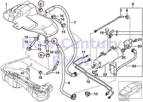 Amazon Com 6 X Bmw Genuine Hose Clamp 23 9 27 1 318i 318is 323i