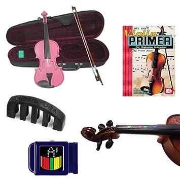 ... Violín Violín (tamaño completo) W/Pickup eléctrica, marcadores de dedo, primer libro, sintonizador y silencio: Amazon.es: Instrumentos musicales