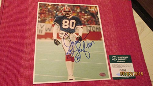 JAMES LOFTON Signed Buffalo Bills Football 8x10 Photo -SGC Authenticated - James Lofton Signed Buffalo Bills