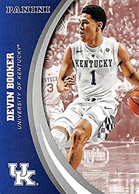 Devin Booker basketball card (Kentucky Wildcats) 2016 Panini Team Collection #40