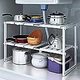 cheapest kitchen cabinets Under Sink 2 Tier Expandable Adjustable Kitchen Cabinet Shelf Storage Organizer