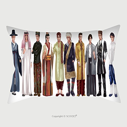 European National Dress Costumes (Custom Microfiber Pillowcase Protector Cartoon Illustration Of Asian Male Man Traditional Religion And National Costume Dress Clothing 357508559 Pillow Case Covers Decorative)