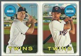 2018 Topps Heritage Minnesota Twins Team Set 11 Cards Joe Mauer Byron Buxton Miguel Sano Brian Dozier