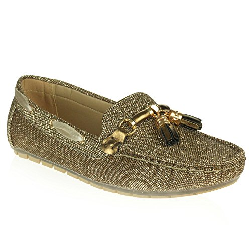 Ladies Brown AARZ Flat Size Lightweight Work Loafer Moccasins Toe Closed LONDON Women Shoes Slip On Office Comfort 44Eaq