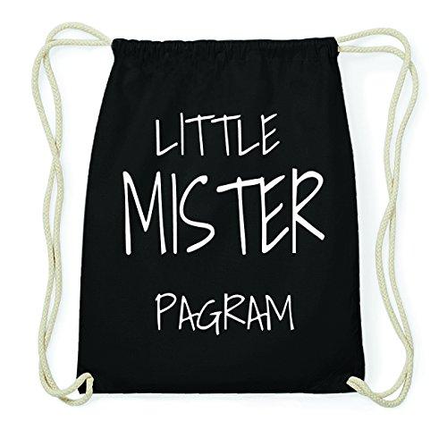 JOllify PAGRAM Hipster Turnbeutel Tasche Rucksack aus Baumwolle - Farbe: schwarz Design: Little Mister ZRJ6E