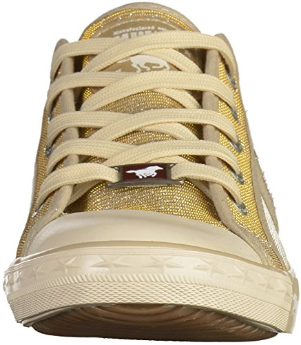 Donna 1099 Gold 308 Mustang Sneaker champagner vtBqFYw