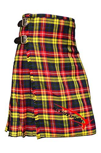 Scottish Men's Traditional Buchanan 8 Yard & 13Oz Tartan Kilts - Tartan Kilt (8 Yard Kilt)