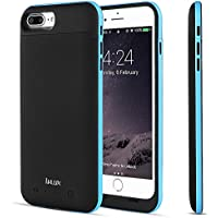 iPhone 7 Plus Battery Case (Lightning Cable Input Mode), i.VALUX 7000mAh Extended Rechargeable Battery Pack Charger External Portable Backup Power Bank for 5.5 iPhone 7 Plus - Blue