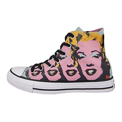 Converse Warhol All Star Hi Donna Sneaker Rosa, 37