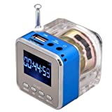OmeGod Mini Digital Portable Music MP3/4 Player Micro SD/TF USB Disk Speaker FM Radio