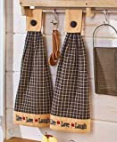 Sets of 2 Hanging Kitchen Towels Live Laugh Love