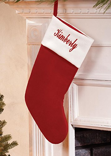 Personalized Red Velvet Stocking Personalized Velvet Stocking